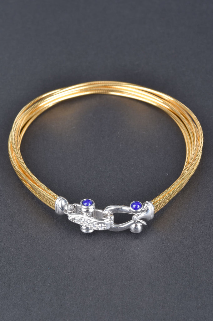 8-Strand Omega Bracelet with Buckle Clasp