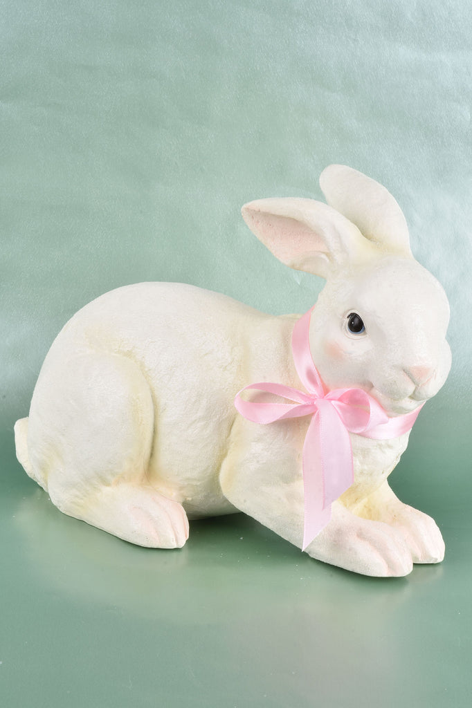 Resting Bunny with Bow
