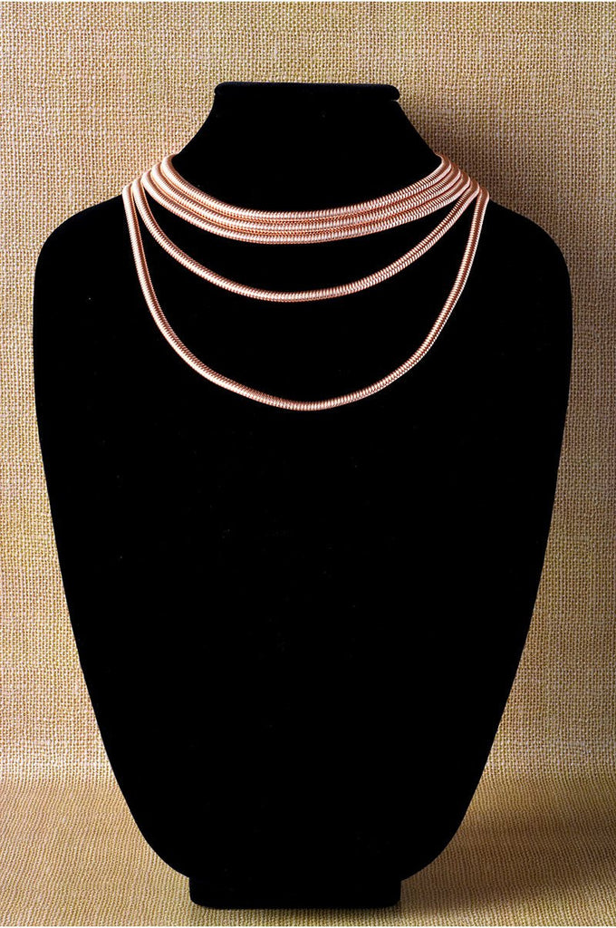 Five Row Tubogas Necklace