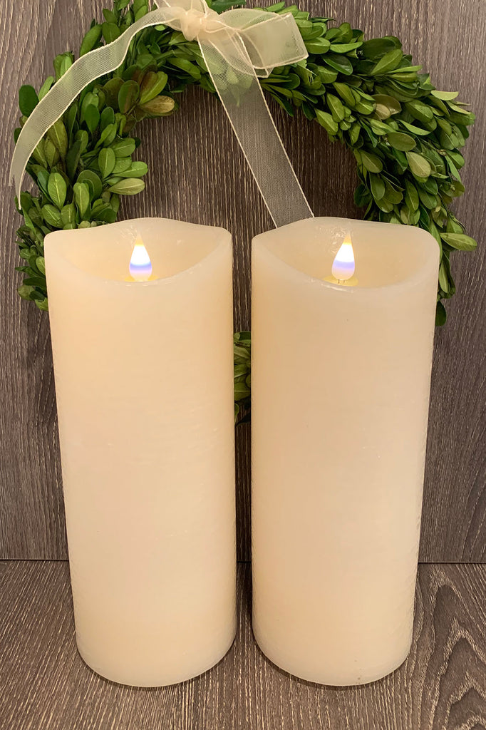 9'' 3D Flameless Candles (Set of 2)