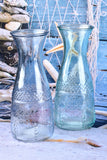 Set of 2 Glass Carafes