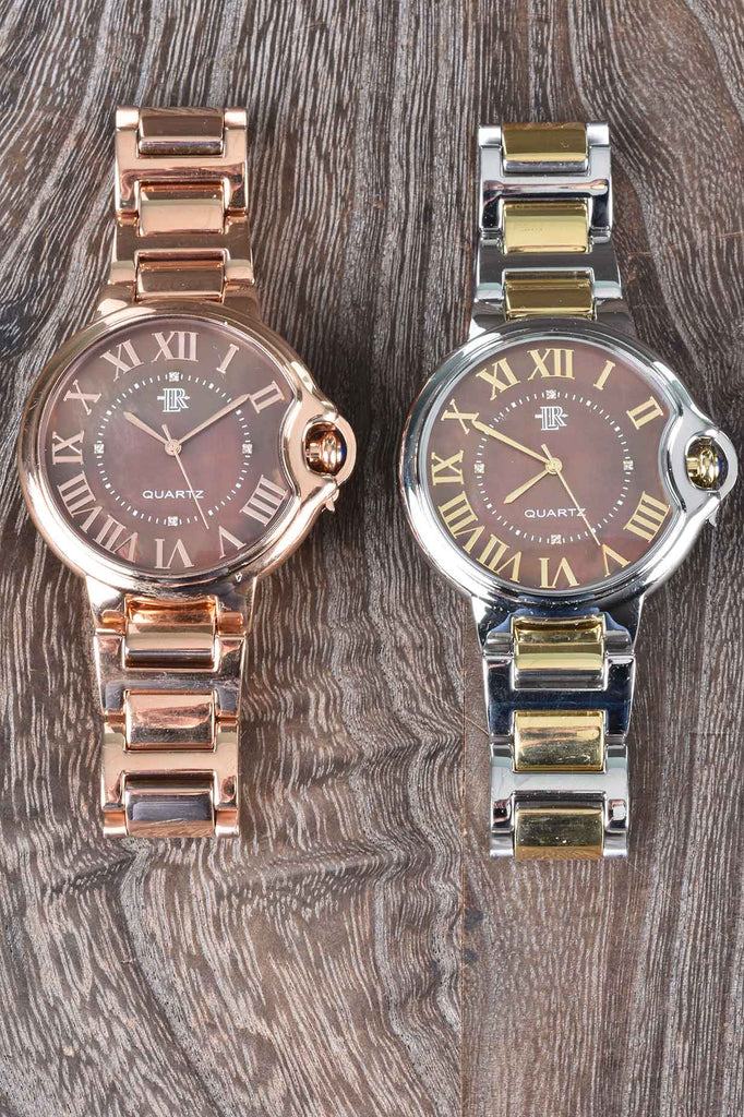 The Chocolate Mother of Pearl Palloncino Watch