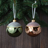 Set of 6 Beaded Garland European Glass Ornaments