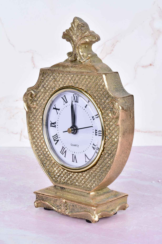 Diamond-Pressed and Scroll Pattern Clock