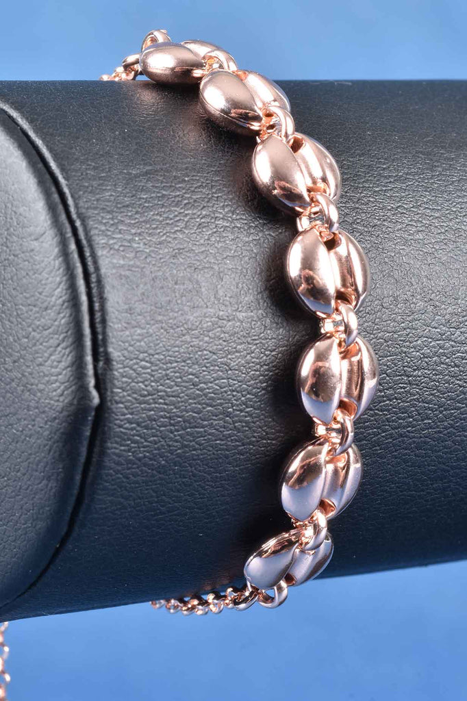 Italian Adjustable Coffee Bean Style Bracelet
