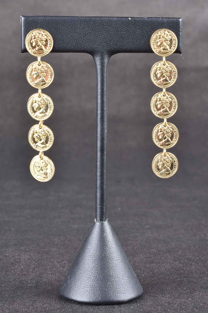 Italian Dangling Coin Earrings