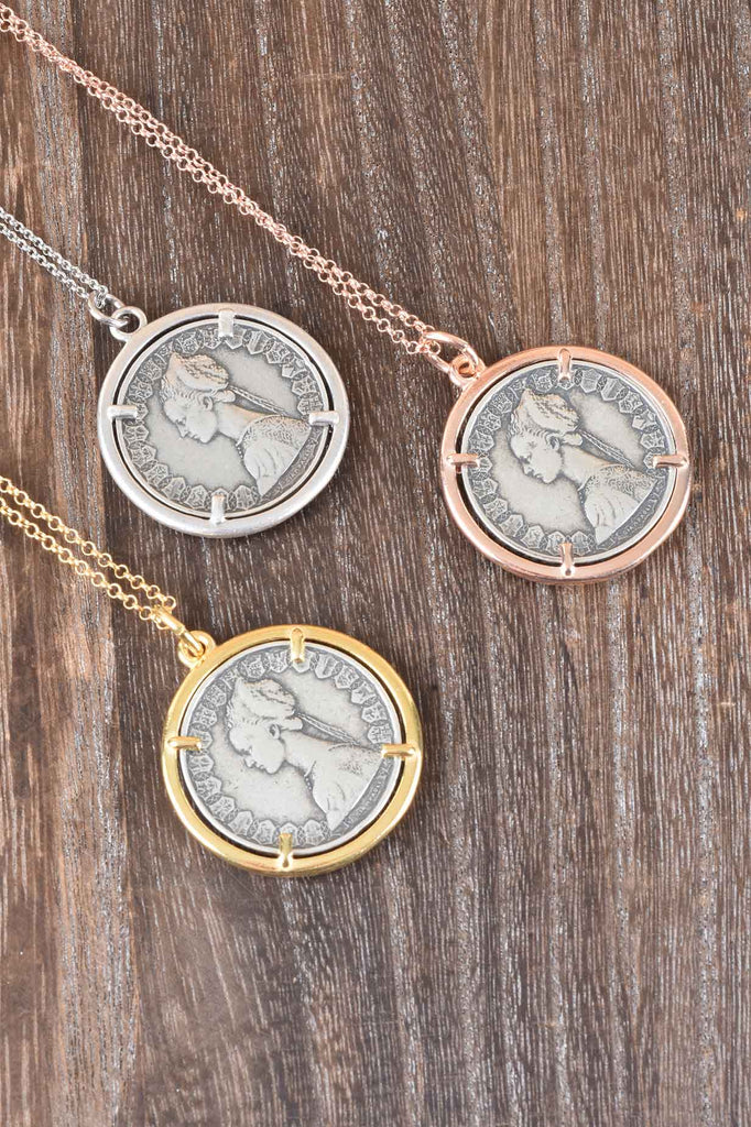 Special Edition Italian Caravelle Lire Coin Pendant, a Love Note