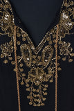 St Barts Black and Gold Embellished Cover Up