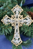 Jeweled Cross Ornaments