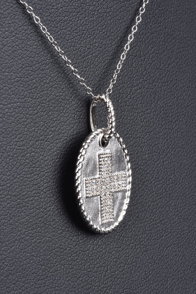 Diamond Cross Medallion Necklace