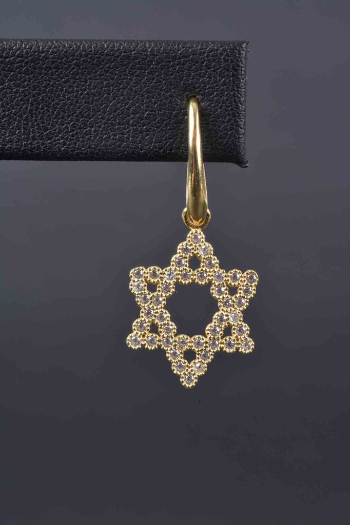 Italian Choice of Cross or Star of David Drop Earrings