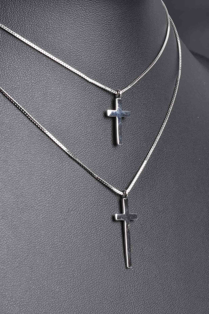 Double Strand Cross Layered Necklace