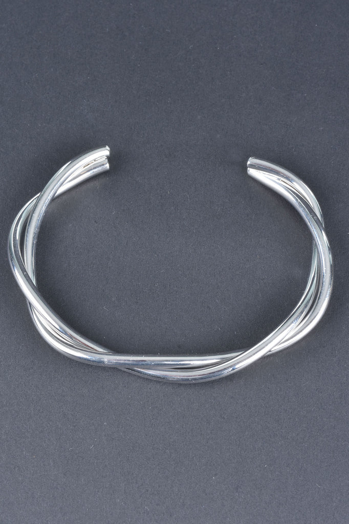 Italian Polished Ribbon Twist Cuff
