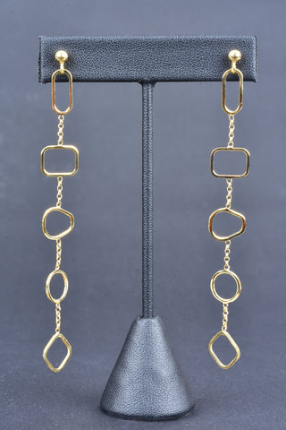 Couture Inspired Gold and Black Pave Cross Earrings