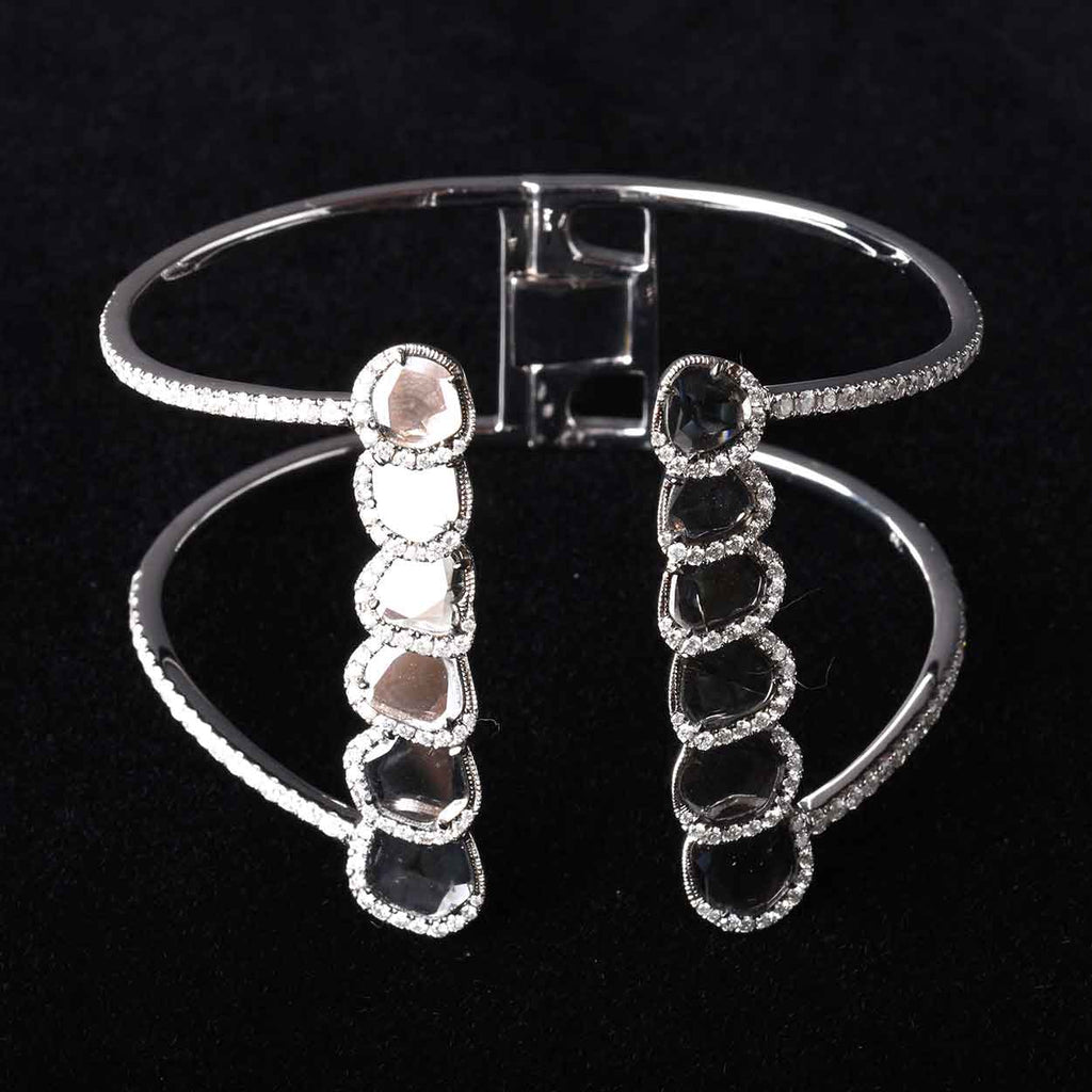 Diamond Slice Cuff, 26.34g 18K