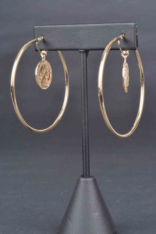 Double Circle Interlocking Drop Earrings