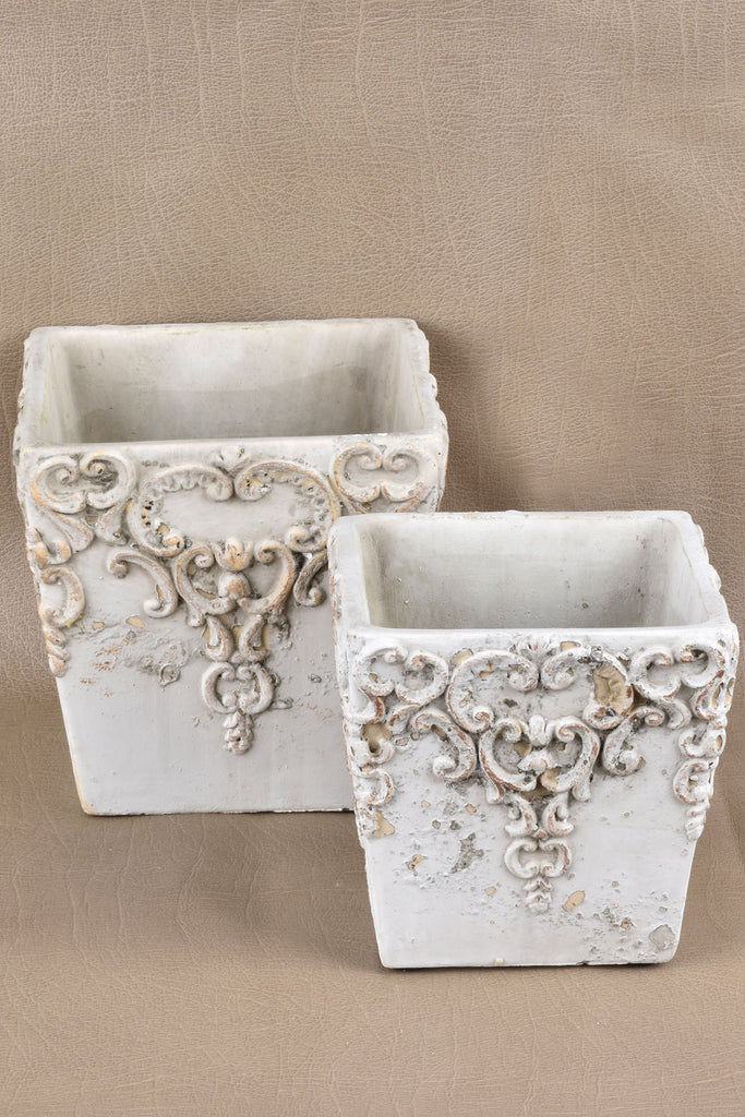 Embossed Square Pots