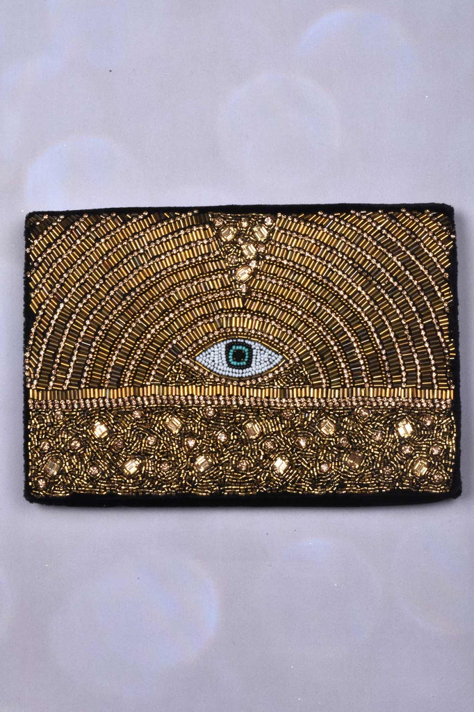 Beaded Clutch with Eye