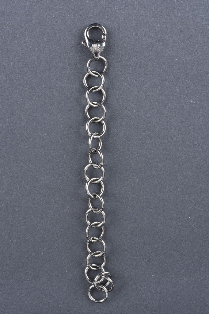 Set of Two Italian Sterling Silver Necklace Extenders