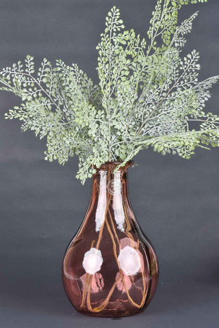 Soft Pink Embossed Glass Vase