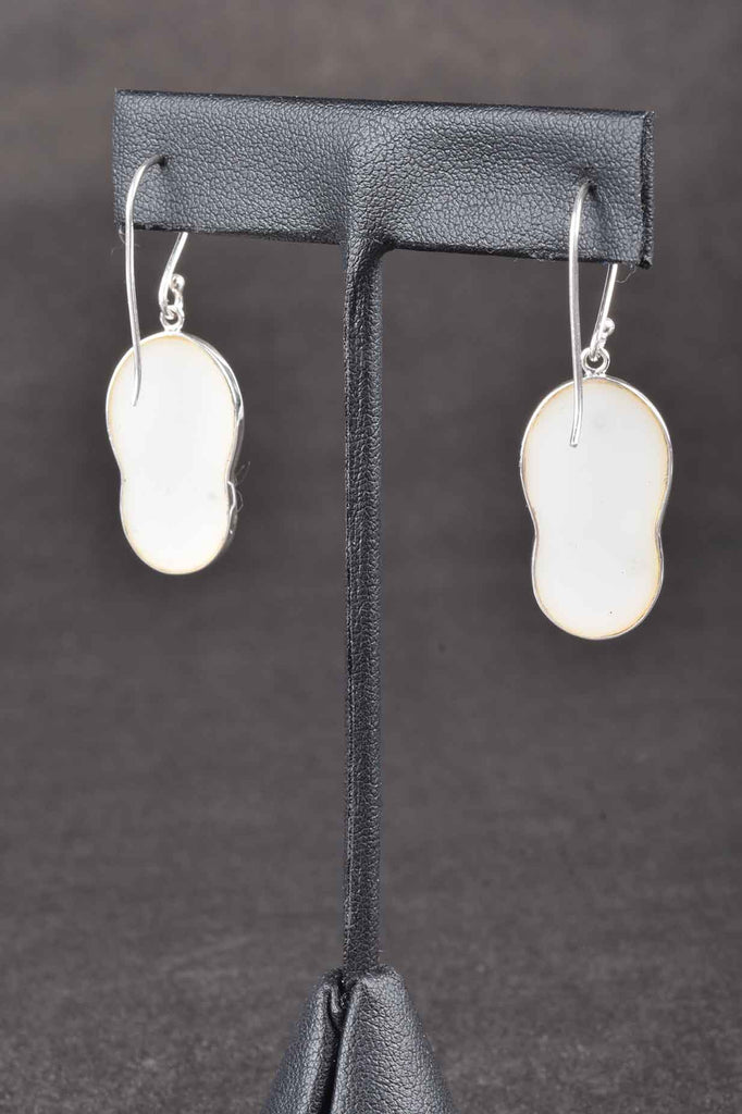 Gemstone Flip Flop Dangle Earrings