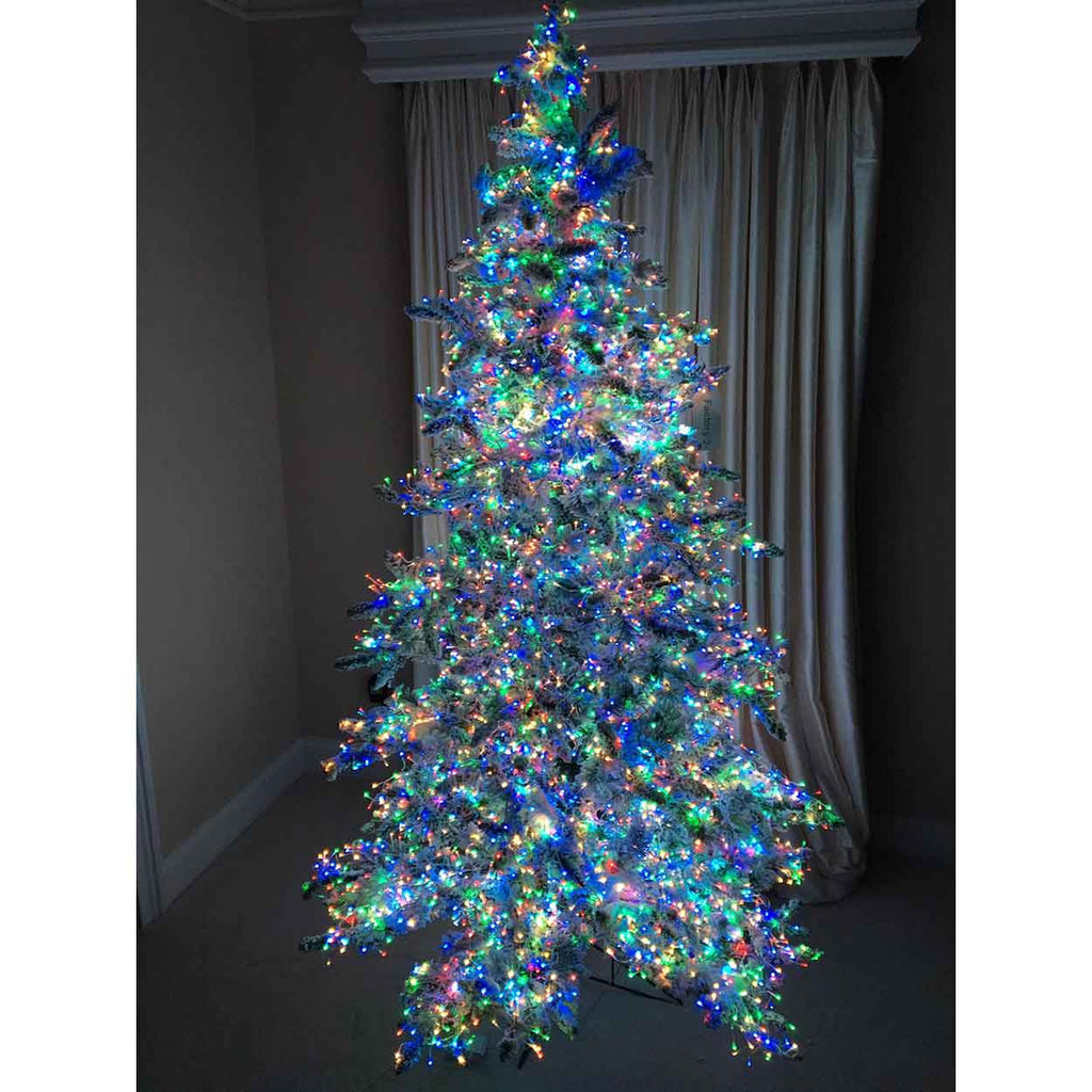 the stars in the sky pre lit christmas tree with multicolor lights - Christmas Tree Decorations With Multicolor Lights