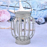 Set of 3 Galvanized Banded Lanterns