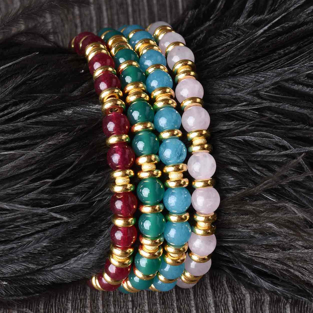 Colors of Gems Bead Bracelet
