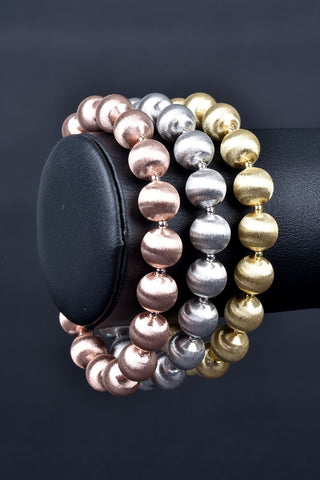 Florentine Pearl and Bead Flexible Bangle Bracelet