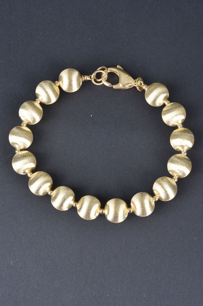Giante Custom Finish Satin Bead Bracelet