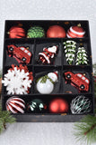 25 Piece Ornament Box Set - Red Green White