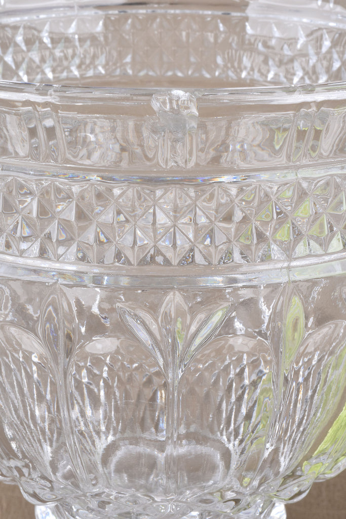 Look of Crystal Glass Apothecary Lidded Jar