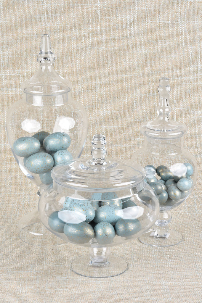 Glass Apothecary Lidded Jars