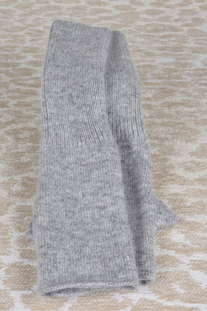 Long Knit Fingerless Gloves