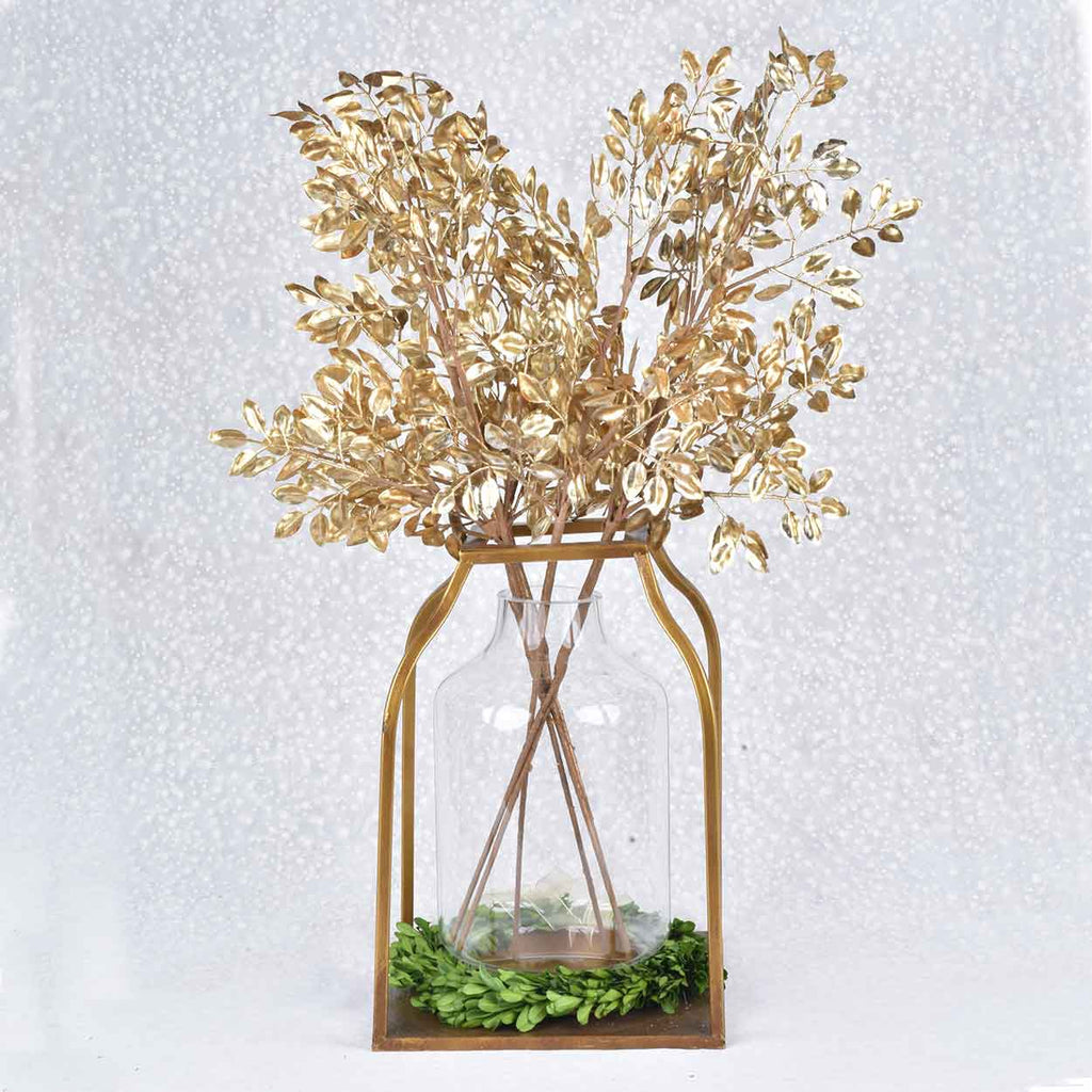 Set of 6 Gold Leaf Branches
