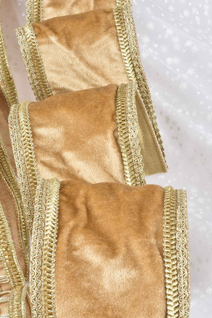 Luxury Gold Wired Christmas Ribbon