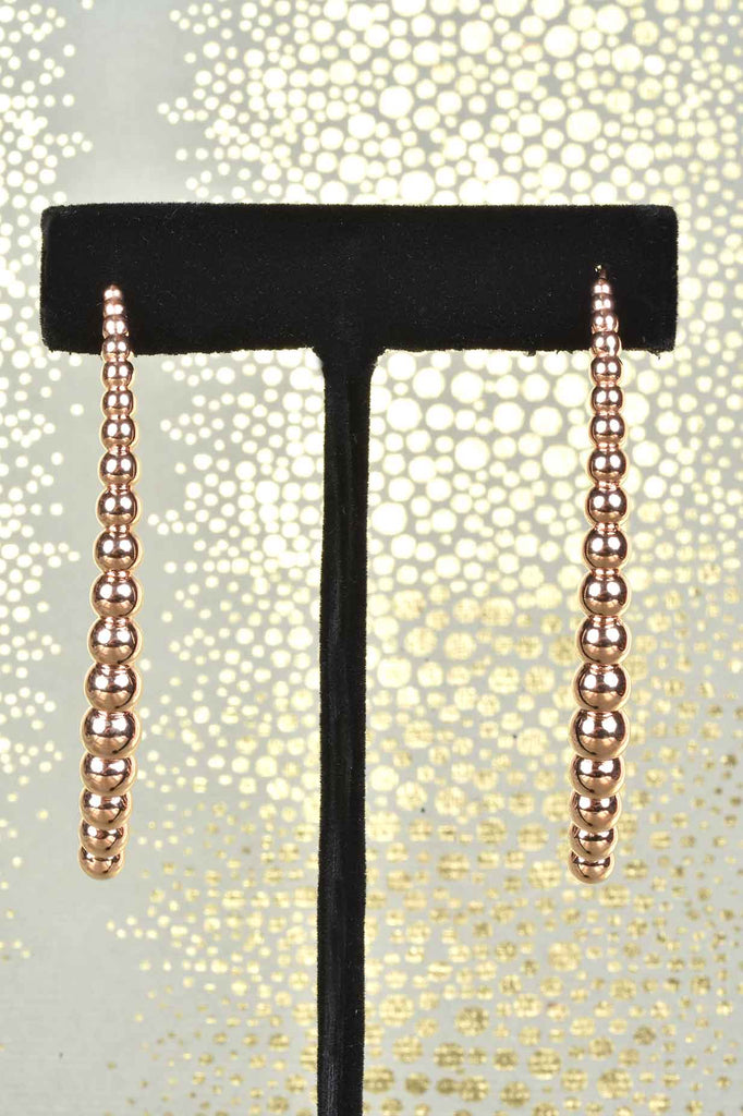 Italian Graduated Bead Curve Earrings