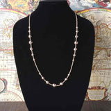 Italian Graduated Diamond Cut Bead Necklace