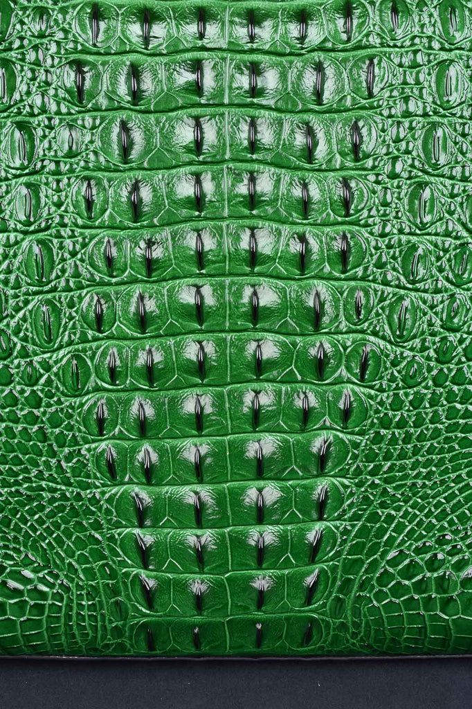The Green Monaco Croco Bag