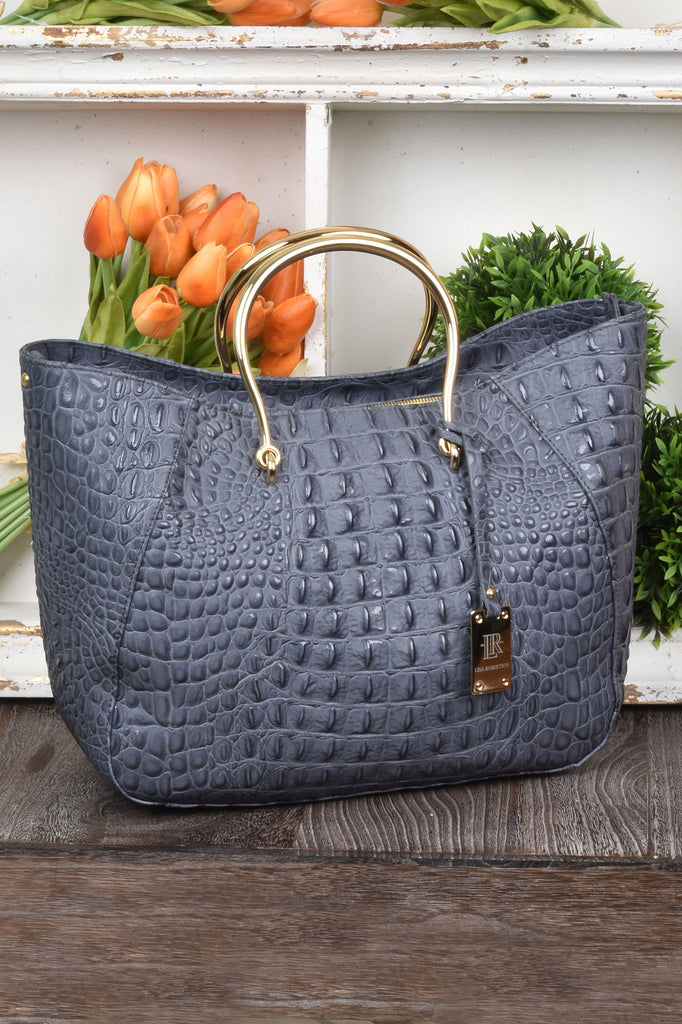 Custom Made Couture Level Italian Bag in French Grey
