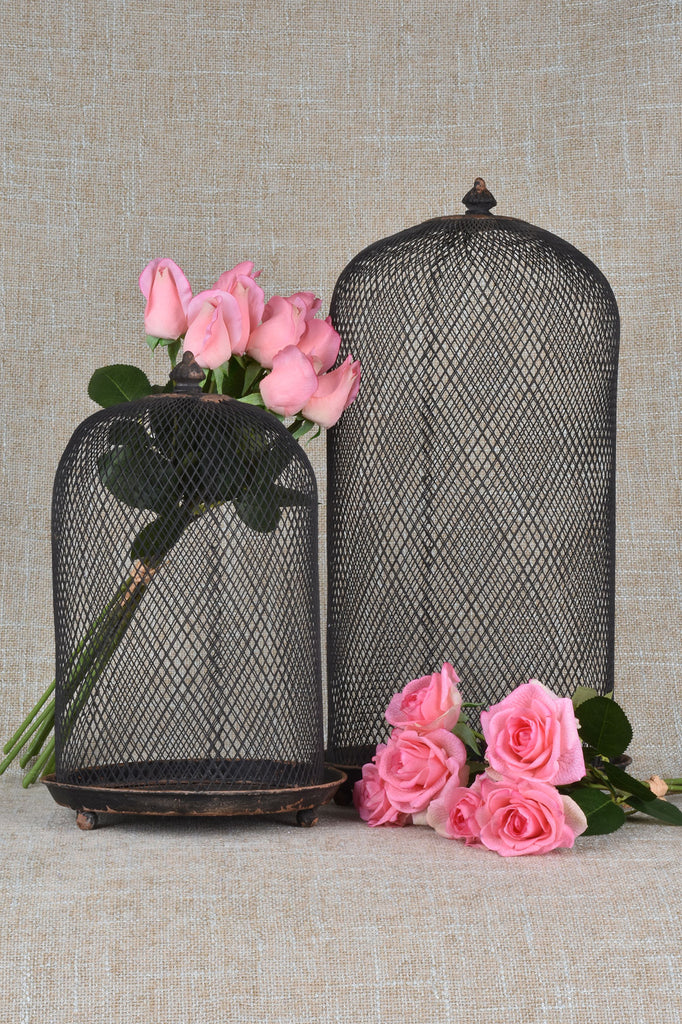 Set of 2 Metal Cloches