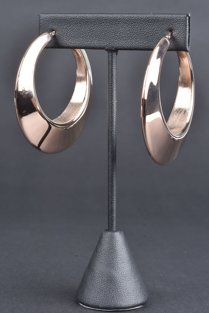 "Bold Graduated 2"" Round Hoop Earrings"