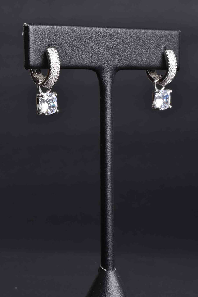 Pave Hinged Hoop Earring with Charms