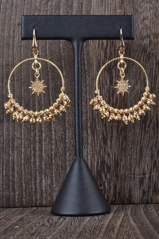Italian Status Circle and Pave Link Earrings