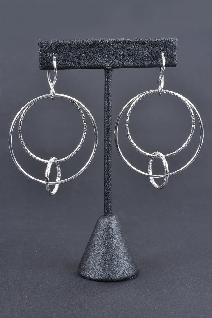 Interlocking Circles Drop Earrings