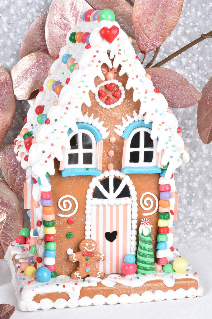 check out 651ff f054e Grand Candy Lighted Gingerbread House