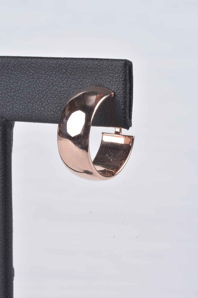 Perfect Size Omega Back Hoop Earrings