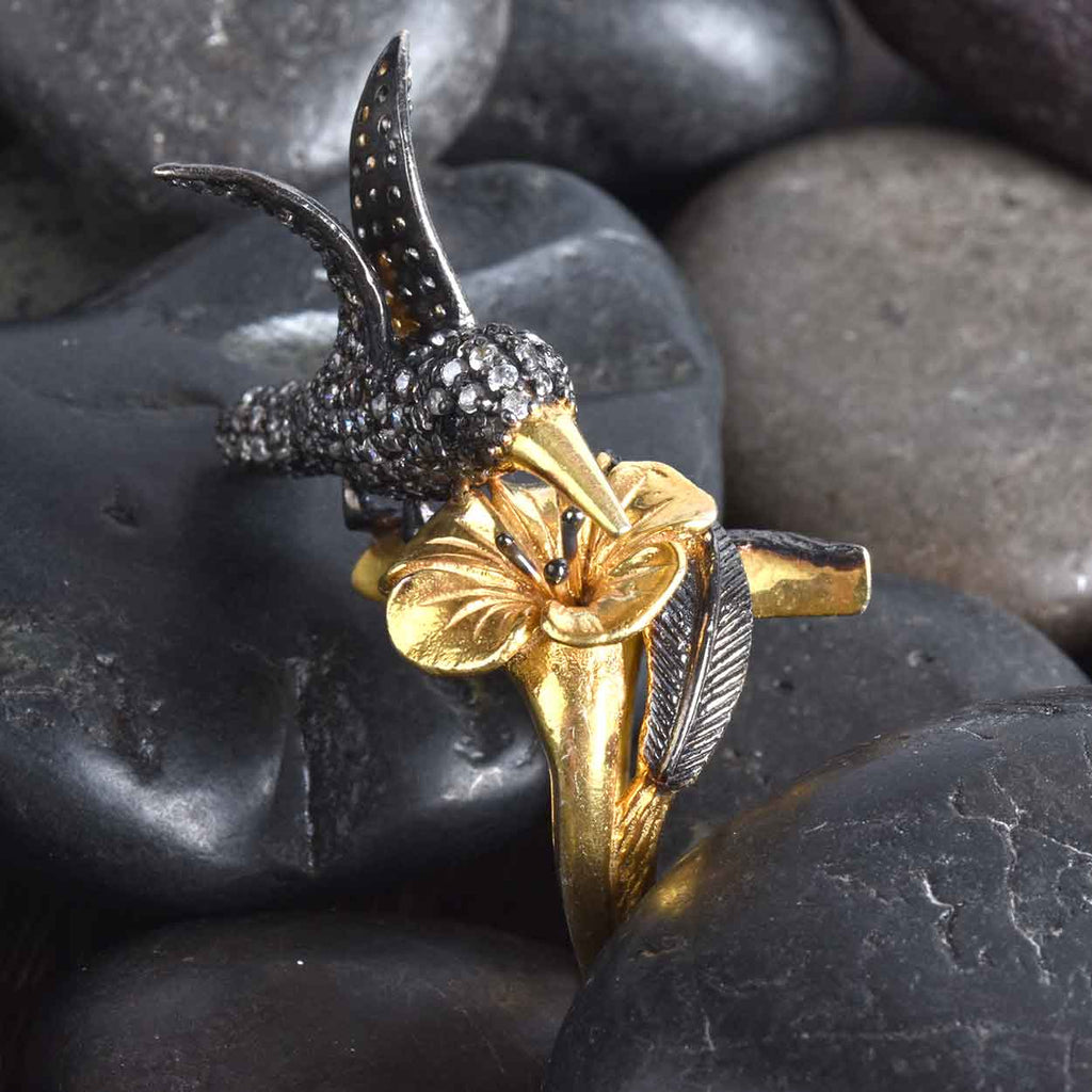 """True To Life"" Hummingbird Ring"