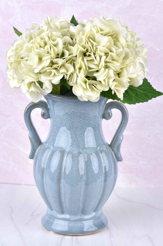 "Set of 4 - 20"" Real Touch Light Green Hydrangea Stem"