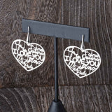 Language of Love Heart Earrings